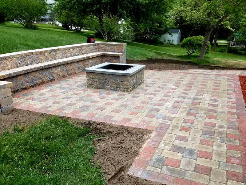 Galizia Masonry and Hardscape Design - Fire Pits, Patios and granite bench